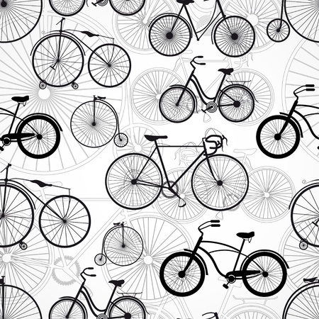 Bicycle seamless pattern Illustration
