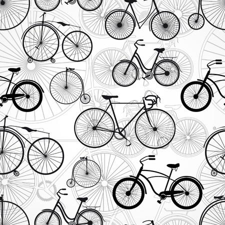 Bicycle seamless pattern Illustration