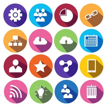 Web Icons in Flat-Design gesetzt.