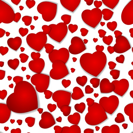 seamless pattern from hearts by a holiday