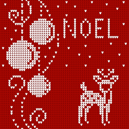 cristmas card: Cristmas card Sweater with deer. Illustration