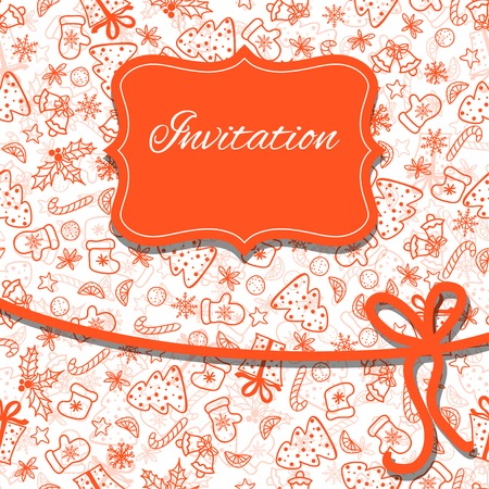 Christmas invitation card. Vector