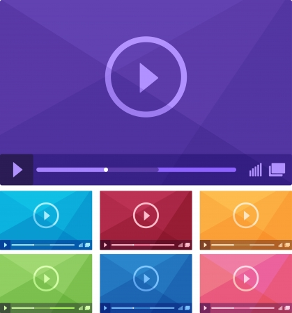 Modern flat media player interface. Vector illustration Vector