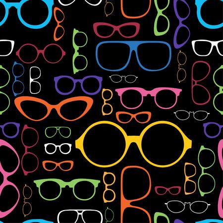 Retro Color Glasses Silhouettes