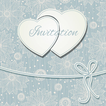 Happy valentines day and weeding card Illustration