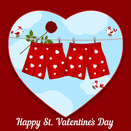 card by St. Valentines Day Vector