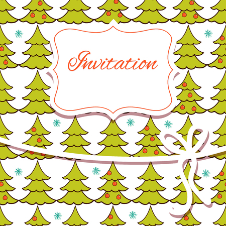 invitation card: Christmas hand draw invitation card.