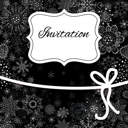 Christmas hand draw invitation card. Vector