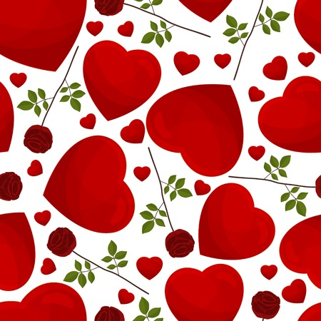 seamless pattern from hearts on a white background Stock Vector - 25154036
