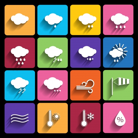 Weather icons set Ilustrace