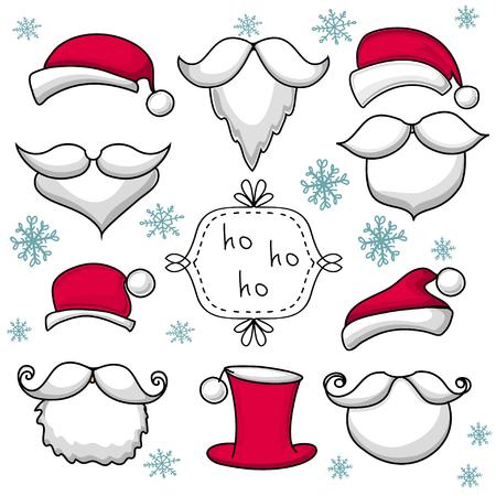 Christmas set with Santa Claus . Stock Vector - 25154611