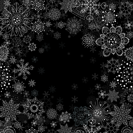 Christmas tree on an abstract background royalty free cliparts vector invitation card with snowflake vector stopboris Choice Image