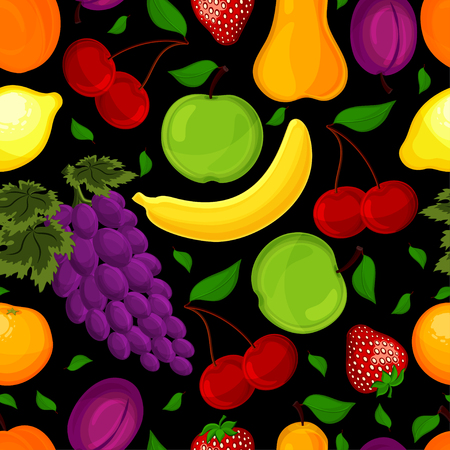 seamless pattern from fruit for a healthy lifestyle Vector