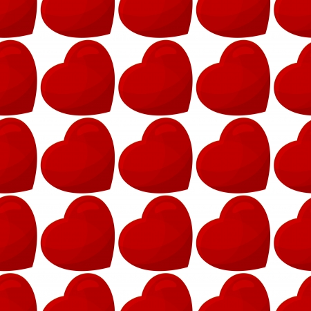seamless pattern from hearts on a white background