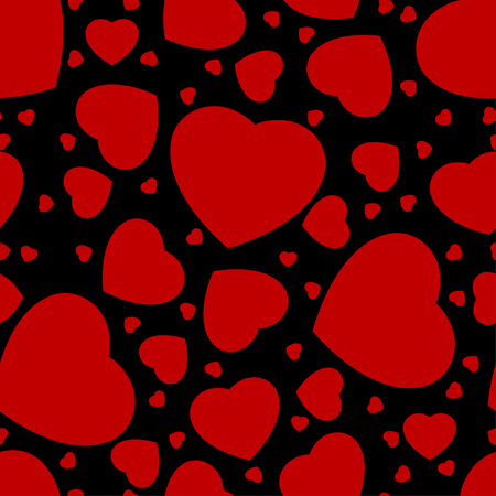 seamless pattern from hearts on a white background Vector