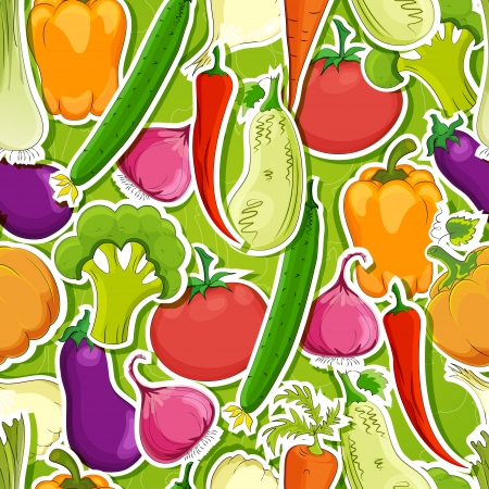 seamless funny vegetable vintage background Vector