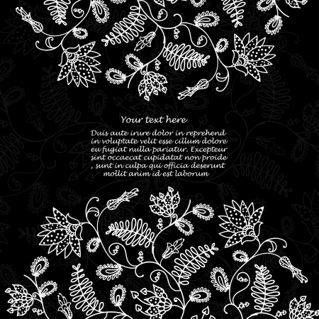 Chalkboard  floral background for text Vector
