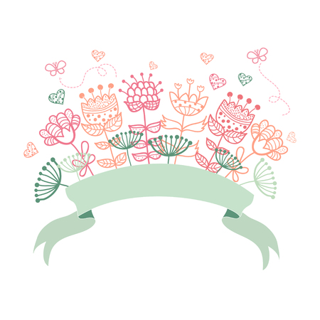 Wedding graphic set, wreath, flowers, arrows, hearts Vector