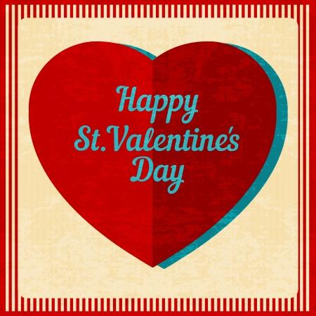 Vintage Valentines Day background. Vector