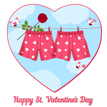 card by St. Valentines Day