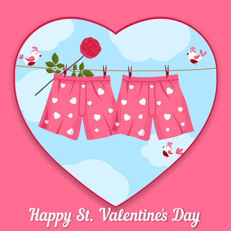 card by St. Valentine's Day Vector