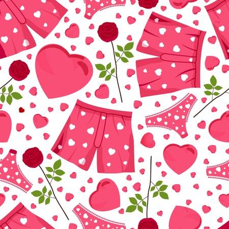 st valentin: seamless background by St. Valentines Day