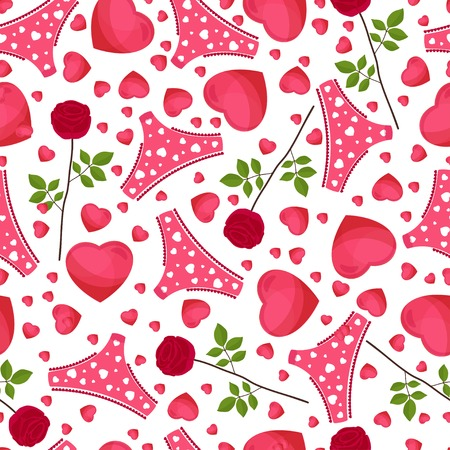 seamless background by St. Valentines Day Vector