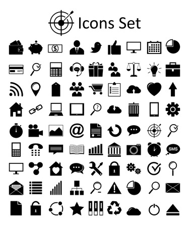 Universal Outline Icons For Web and Mobile Ilustração