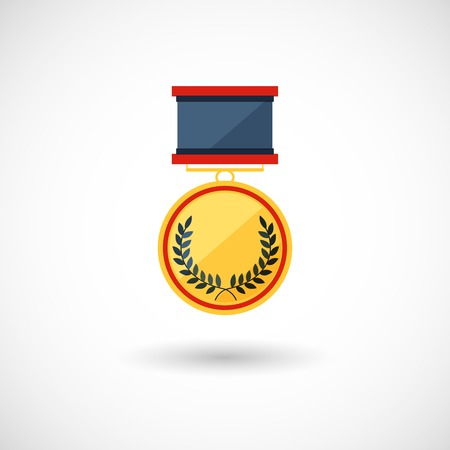 symbol of the winner, badge with tapes Vector