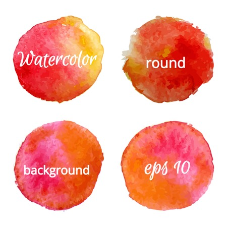 color backgrounds: round water color backgrounds  vector illustration