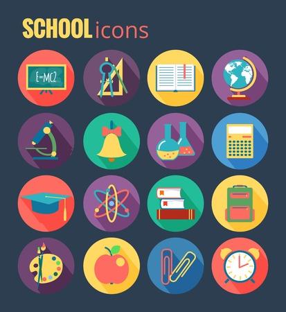 college students: School icon set  Vector Illustration, eps10,