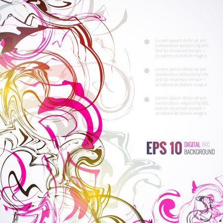 color mixing: Vector ink abstract background Illustration