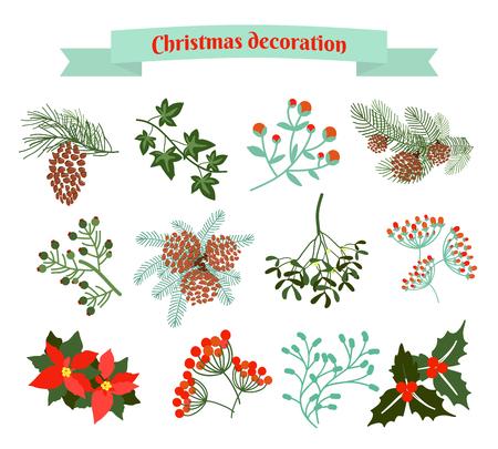Christmas decoration .  set of elements Illustration