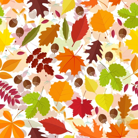 seamless pattern from autumn leaves