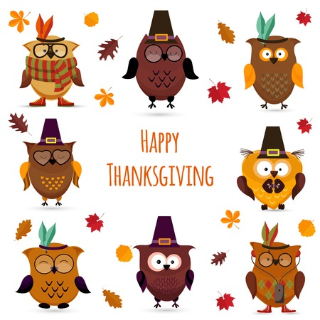 pilgrim costume: Thanksgiving Day  cute owl set