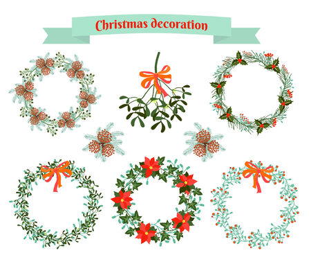Christmas decoration .  set of elements Vector