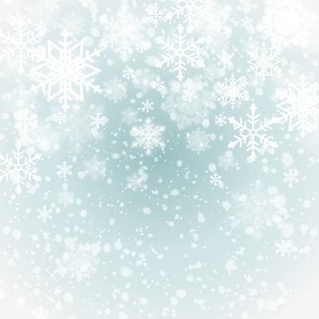 sapin neige: fond l'hiver avec des flocons de neige