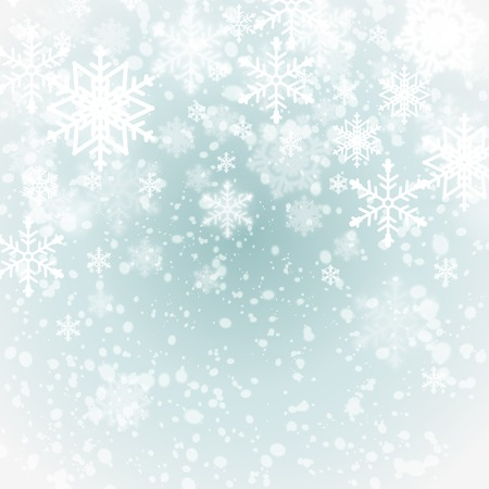 snow: winter background with snowflakes