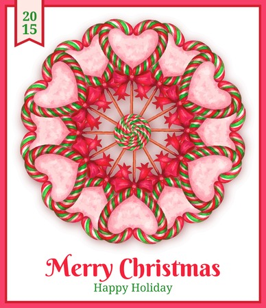 sugar candies  holiday card . vector ilustration Illustration