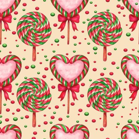 jellybean: sugar candies seamless background Illustration