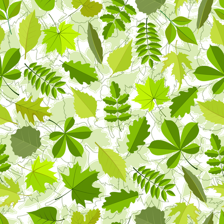 seamless pattern from spring leaves. Vector