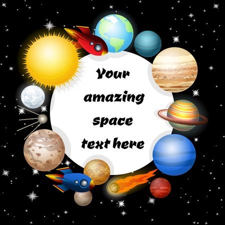 Background of solar system.