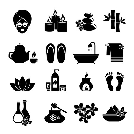 feet care: set of icons for Spa.