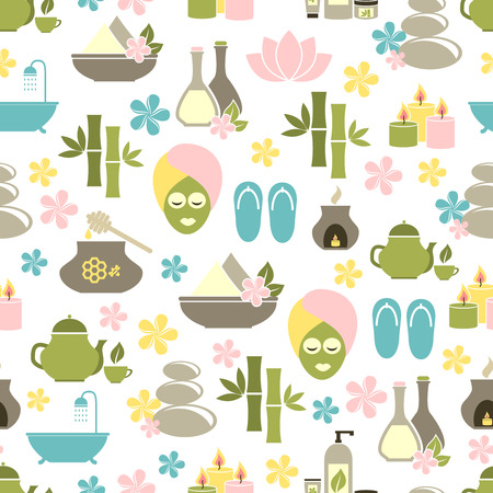 well being: seamless pattern from Spa of elements