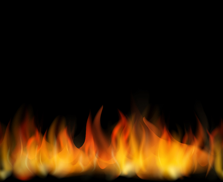 Fire. Seamless  realistic vector background for design Illustration