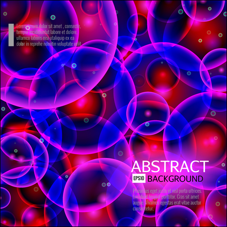 blue cells: Abstract background. Rose,violet,blue and red cells.