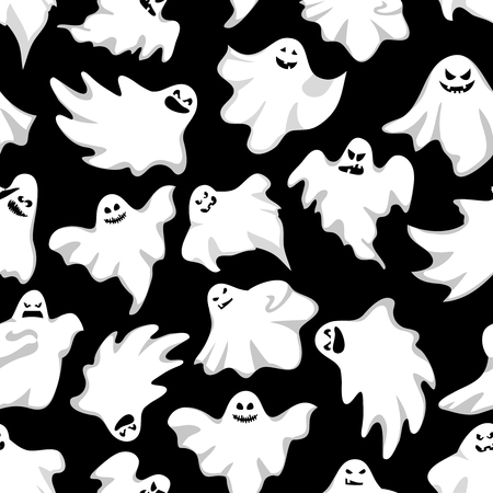 helloween: Gosts helloween background. Spookys holiday seamless background.Vector illustration Illustration