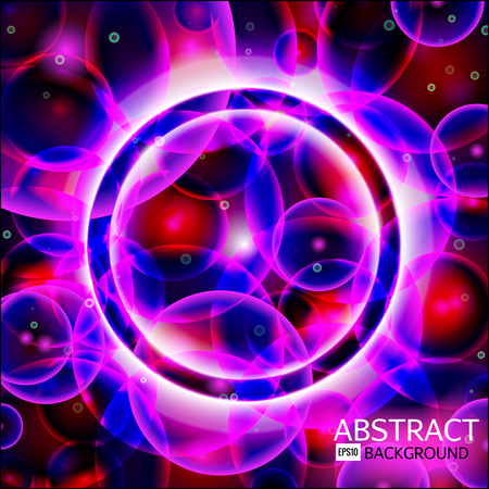 Abstract background. Rose,violet,blue and red cells. Science Illustration