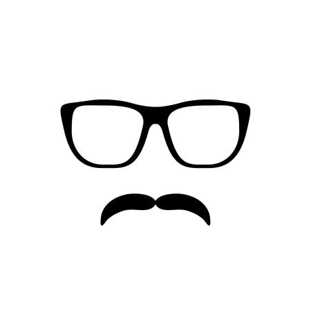 Mustache and Glasses Icon. Illustration