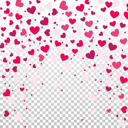 colorful heart: Illustration of a Colorful Heart Confetti Illustration